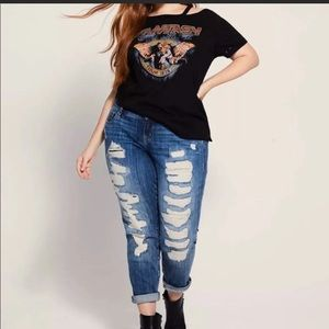 Torrid Boyfriend skinny jeans.